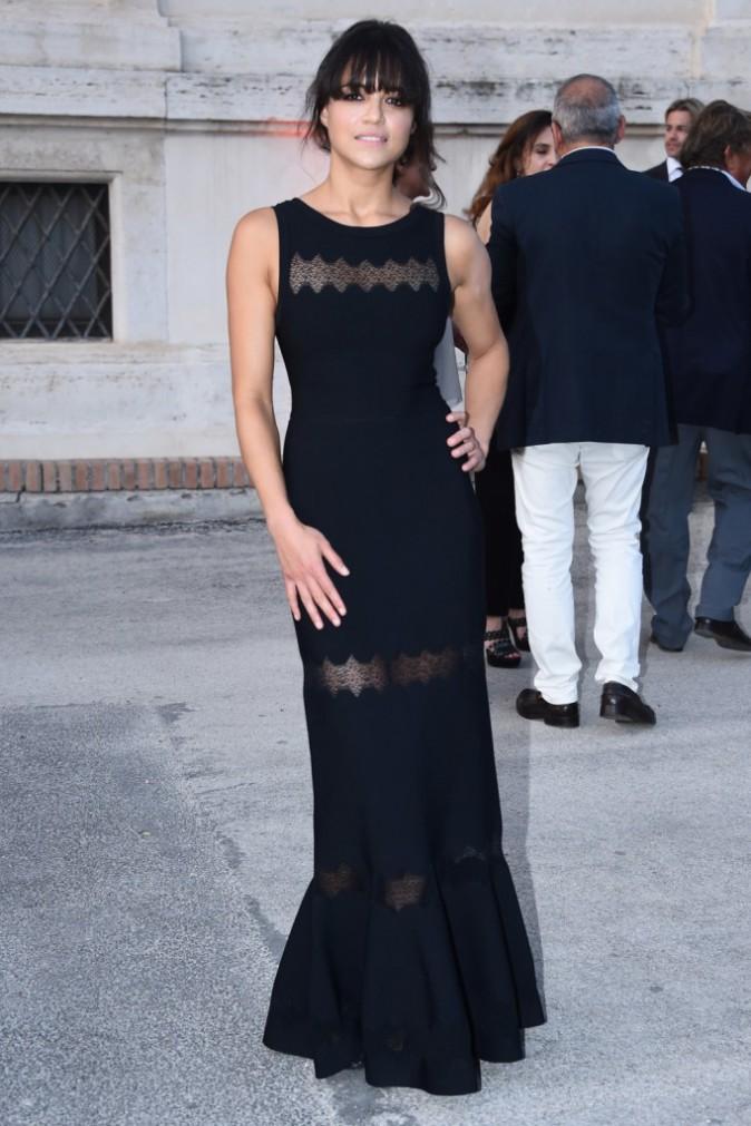 Michelle Rodriguez en Azzedine Alaïa