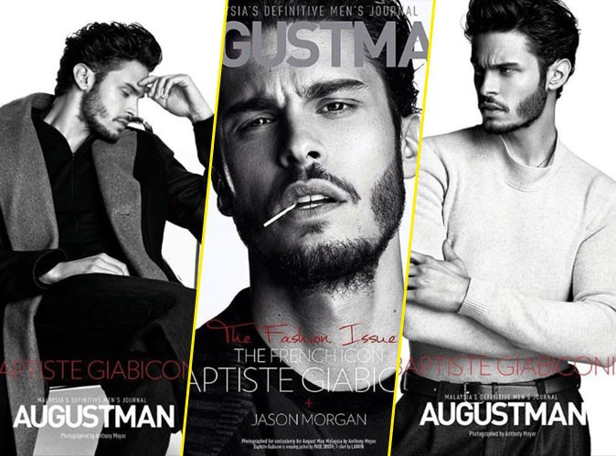 Photos : Baptiste Giabiconi, le beau gosse joue les hommes ténébreux pour AugustMan !