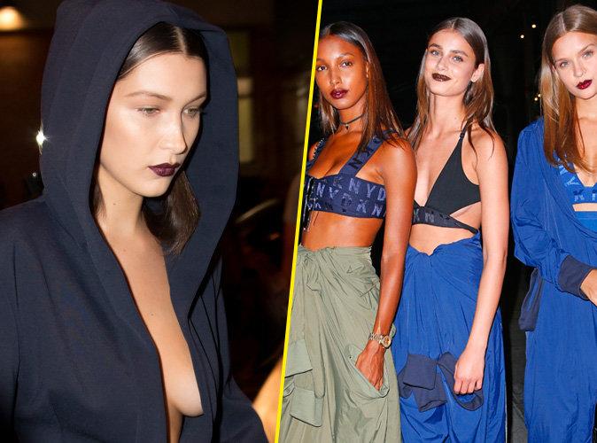 Photos : Beauté : Fashion Week : Pour la rentrée, on ose le rouge à lèvres prune du défile DKNY !