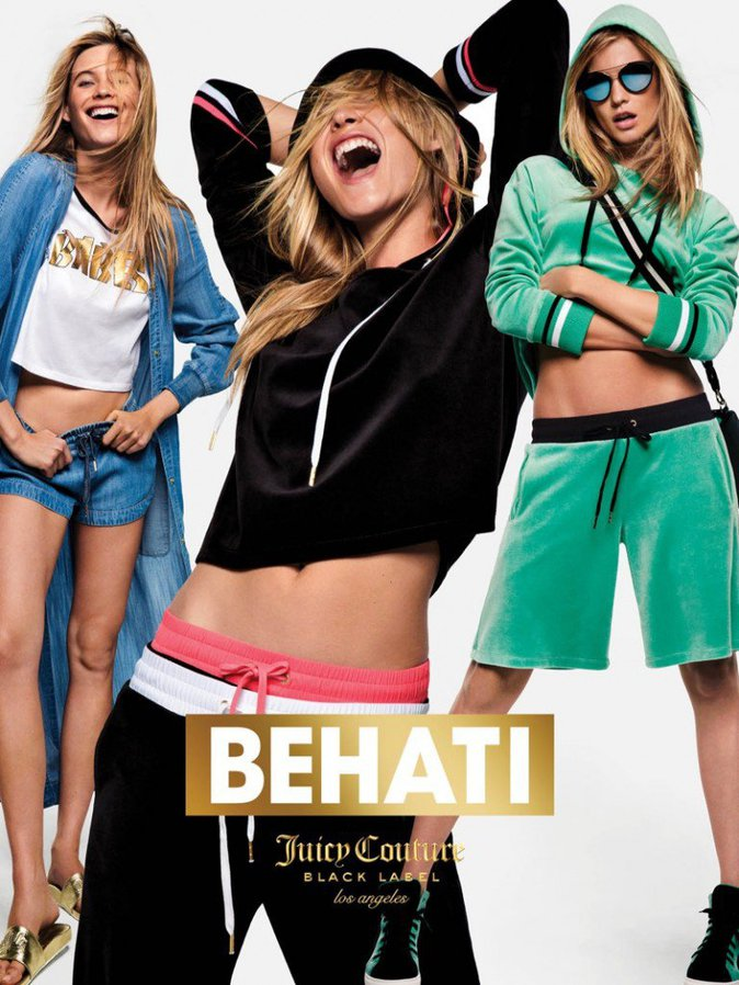 Photos : Behati Prinsloo : déjantée pour la nouvelle collection Juicy Couture