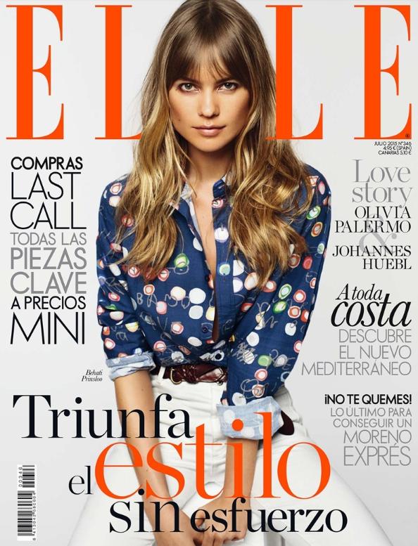 Behati Prinsloo en couverture d'ELLE Espagne