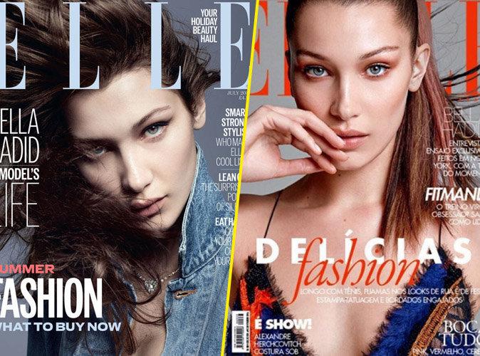 Bella Hadid en couverture des magazines ELLE UK et Brésil