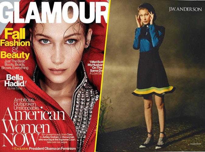 Bella Hadid en couverture de Glamour US / Égérie de la marque J.W Anderson