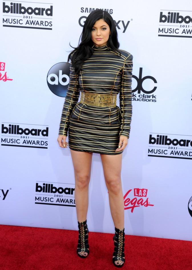 Kylie Jenner habillée en Balmain, le 17 mai aux Billboard Music Awards 2015
