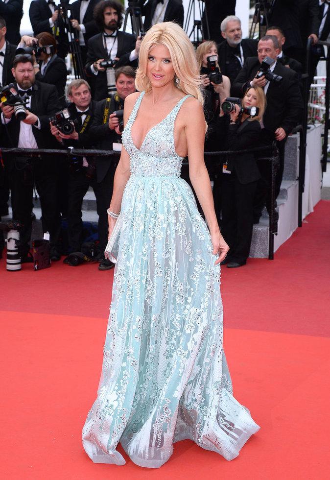 Victoria Silvstedt sur le tapis rouge du 69e Festival de Cannes