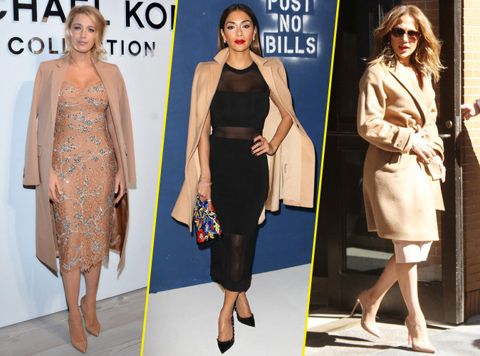 Blake Lively, Nicole Scherzinger, Jennifer Lopez... Elles craquent toutes pour le manteau beige !