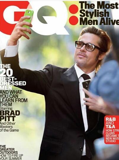 Brad Pitt en couverture de GQ Magazine