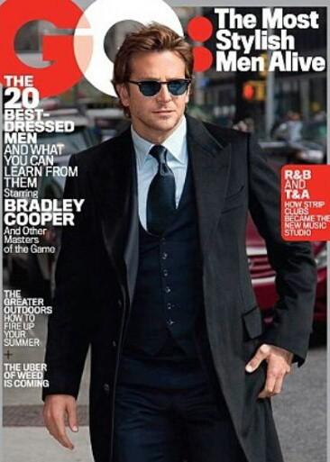 Bradley Cooper en couverture de GQ Magazine