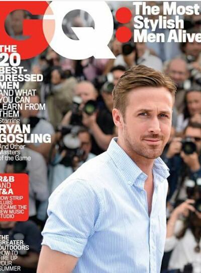 Ryan Gosling en couverture de GQ Magazine