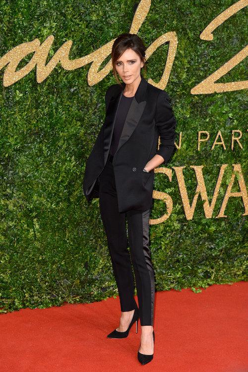Victoria Beckham aux British Fashion Awards, à Londres le 23 novembre 2015