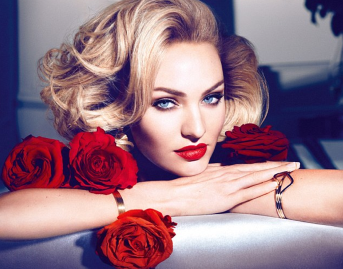 Photos : Candice Swanepoel : glamour pour Max Factor