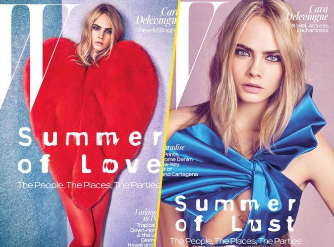 Cara Delevingne en couverture de W Magazine