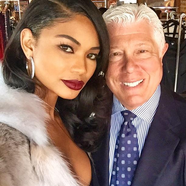 Un petit selfie de Chanel Iman et Dennis Basso !