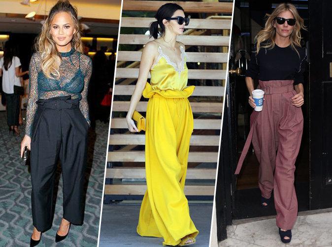 Chrissy Teigen, Kendall Jenner, Sienna Miller... Elles craquent toutes pour le paperbag waist pants !
