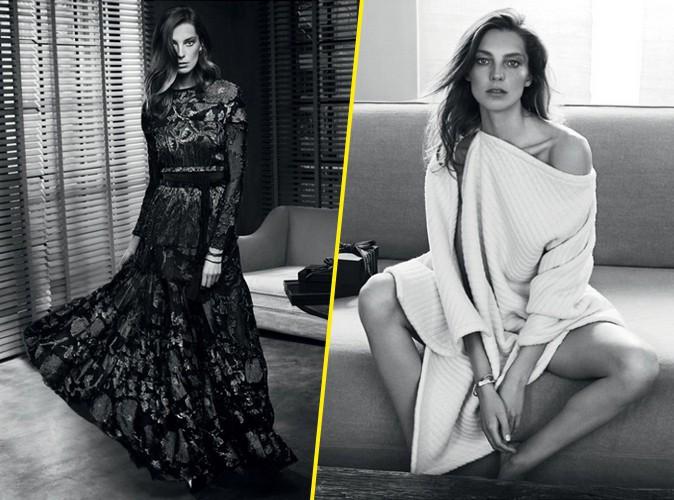 Photos : Daria Werbowy : classe et sensuelle pour sa troisème collaboration avec Net-à-Porter !
