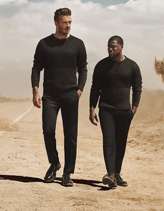 David Beckham et Kevin Hart pour H&M