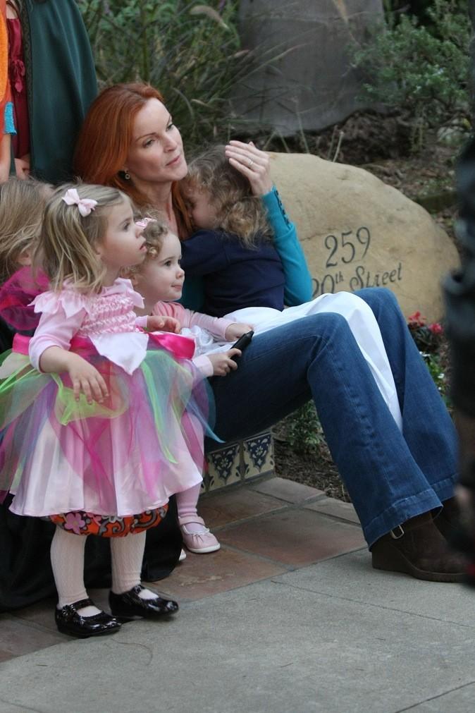 Les jumelles de Marcia Cross, en jolies princesses !