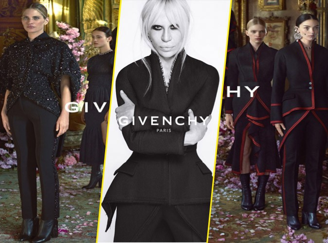 La nouvelle collection Automne - Hiver 2015 de Givenchy, avec Candice Swanepoel, Donatella Versace, Mariacarla Boscono
