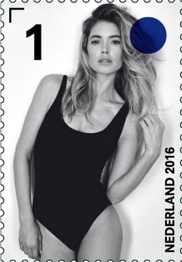 Photos : Doutzen Kroes : Le top devient le nouveau visage... des timbres hollandais !