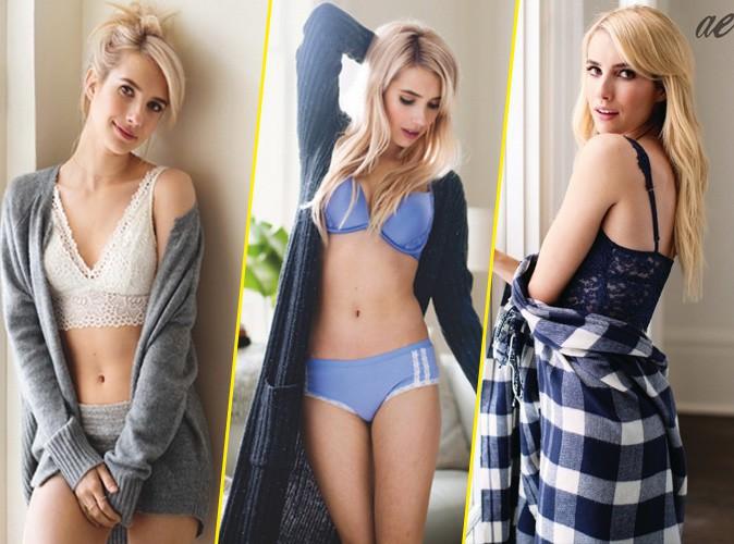 Photos : Emma Roberts : sa campagne de lingerie non retouchée pour Aerie !