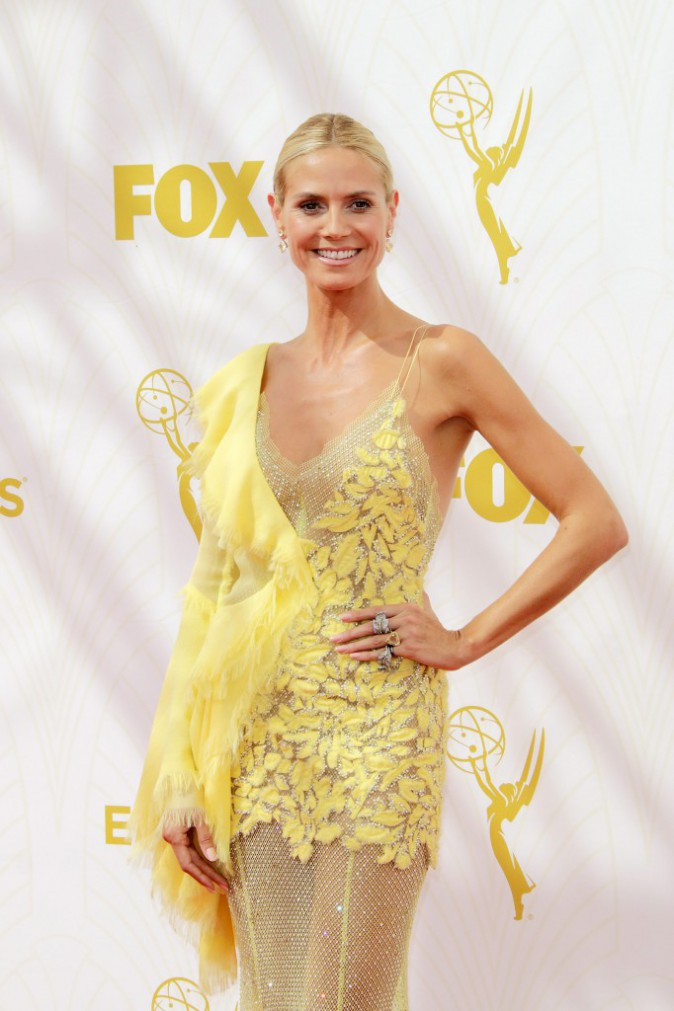 Heidi Klum aux Emmy Awards 2015