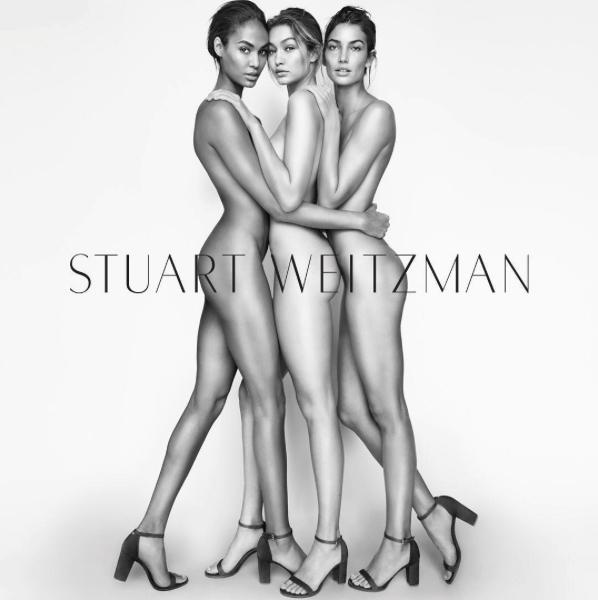 Photos : Gigi Hadid, Lily Aldrige et Joan Smalls : un trio de choc pour Stuart Weitzman