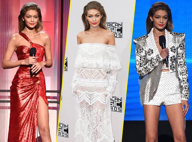 Photos : Gigi Hadid : Six tenues en une soirée : son marathon fashion des AMA's !