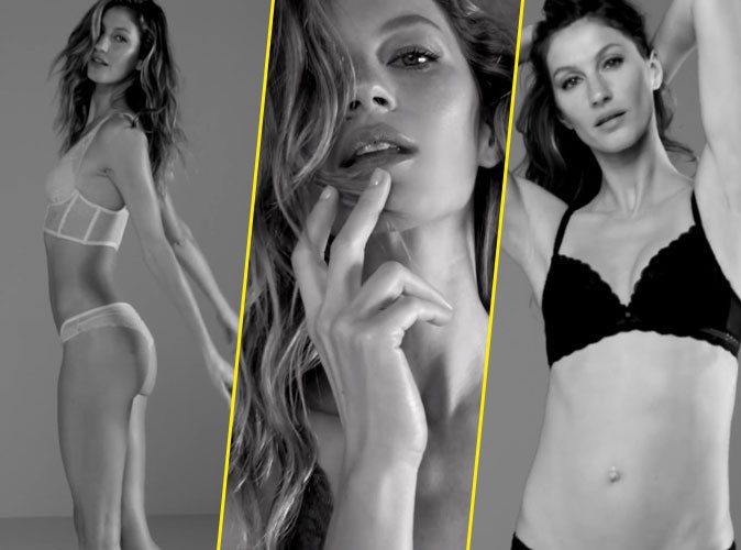 Photos : Gisele Bündchen, hot et sensuelle pour sa collection de lingerie Gisele Bündchen X Intimates !