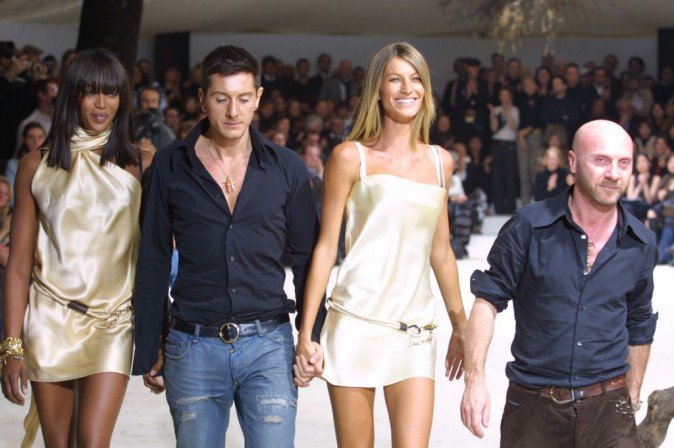 La Dolce & Gabbana fashion show part of the Spring-Summer 2002 fashion week (12.07.2002)