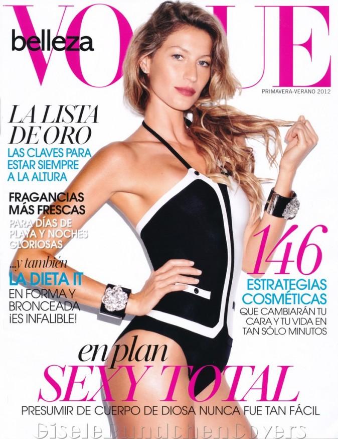Gisele Bündchen en une du Vogue Belleza.