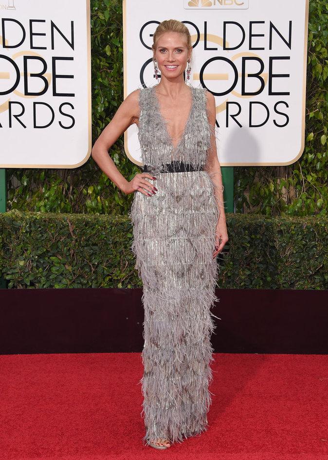Heidi Klum dans une robe Marchesa