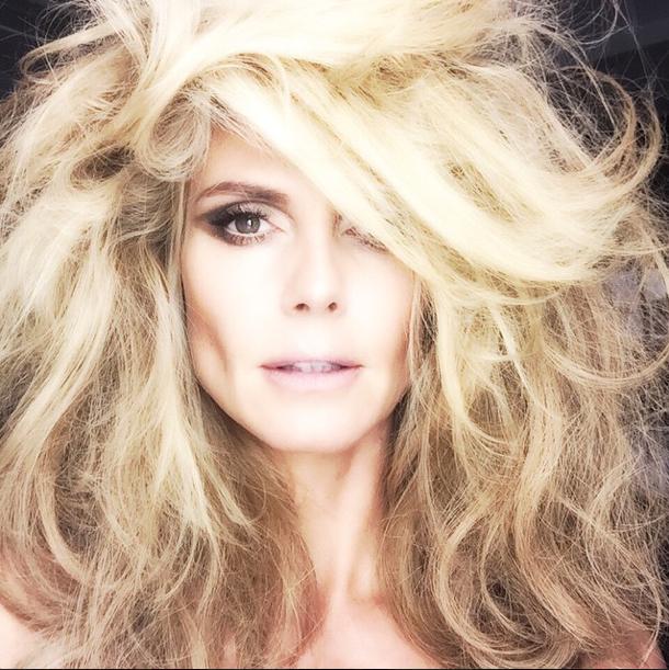 Heidi klum : après son shooting photos