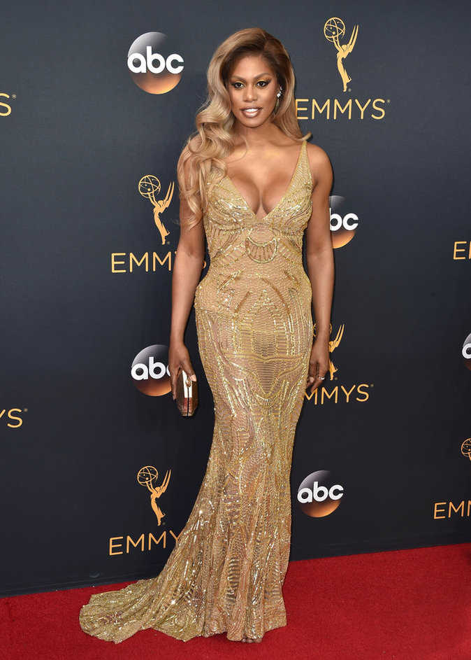 Laverne Cox (Orange Is The New Black) en Naeem Khan