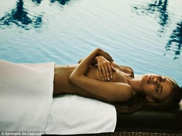 Irina Shayk dans la nouvelle campagne de pub des soins Germaine De Capuccini...