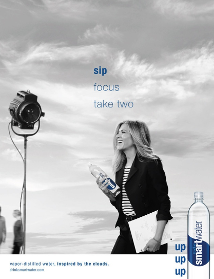 Jennifer Aniston pour Smartwater
