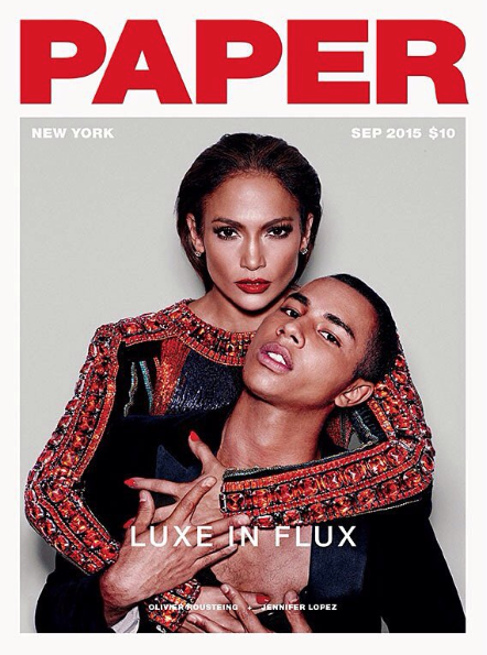 Photos : JLo et Olivier Rousteing s'enlacent en couverture de Paper Magazine !