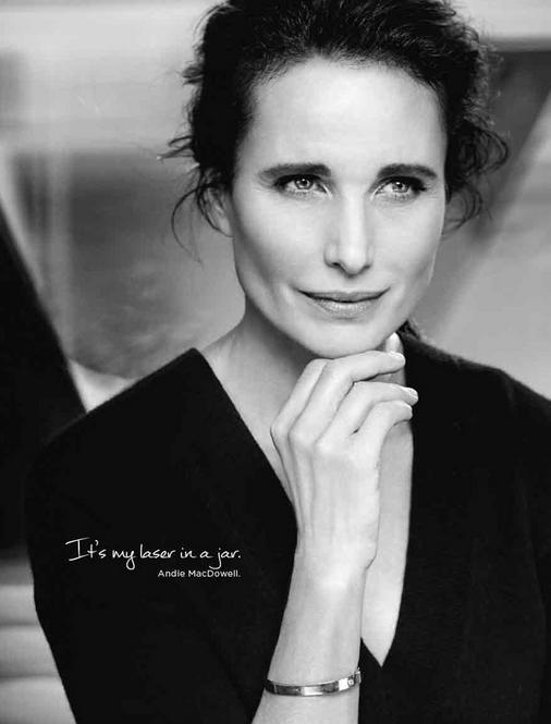 Andie MacDowell pour L'Oréal Paris !