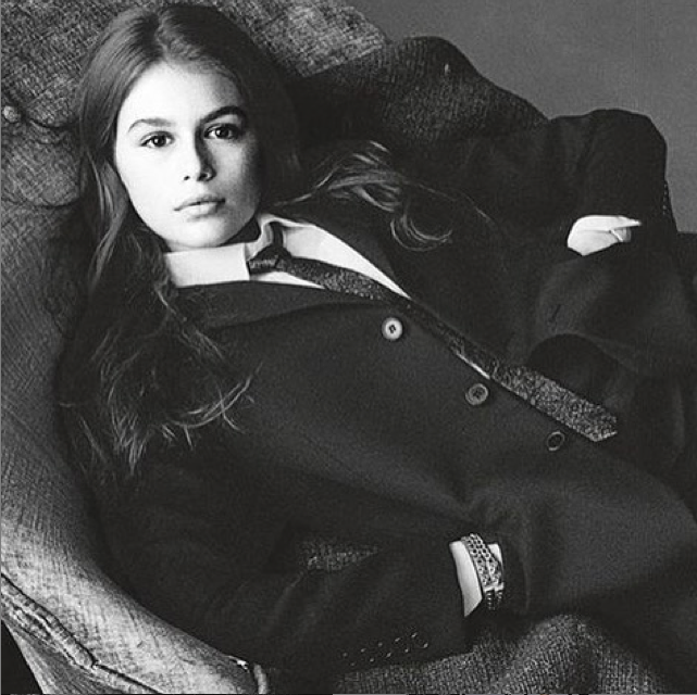 Kaia Gerber pour Vogue Italie