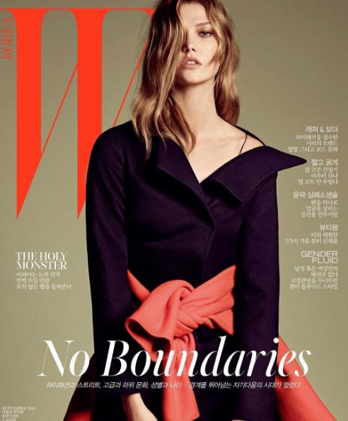 Photos : Karlie Kloss : incendiaire et charismatique en couverture du magazine W Corée