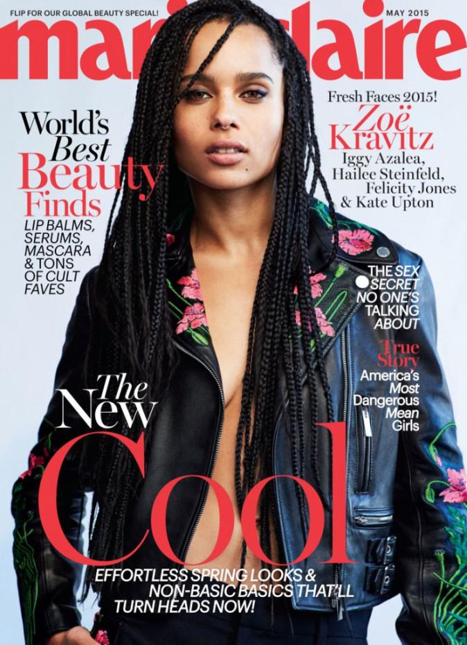 Zoë Kravitz en couverture du numéro de mai 2015 du Marie Claire US