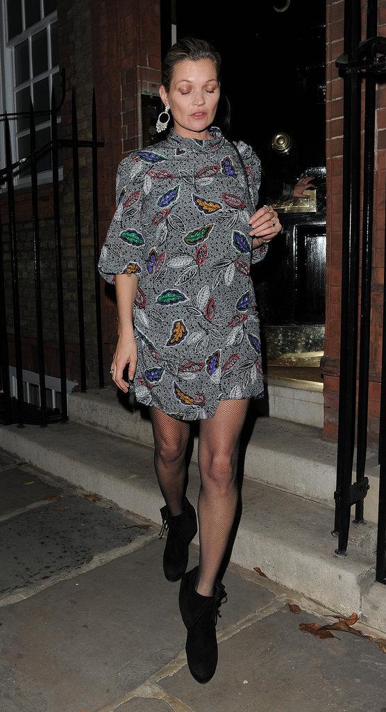 Kate Moss à Londres, le 1er novembre