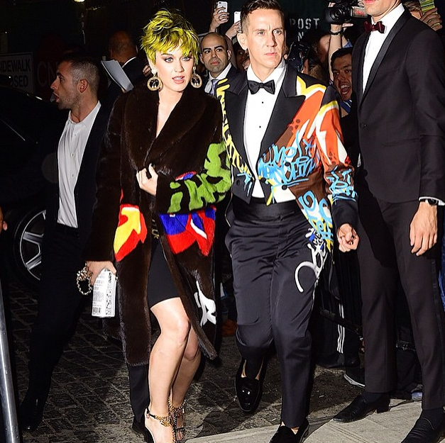 Katy Perry et Jeremy Scott au MET Gala 2015