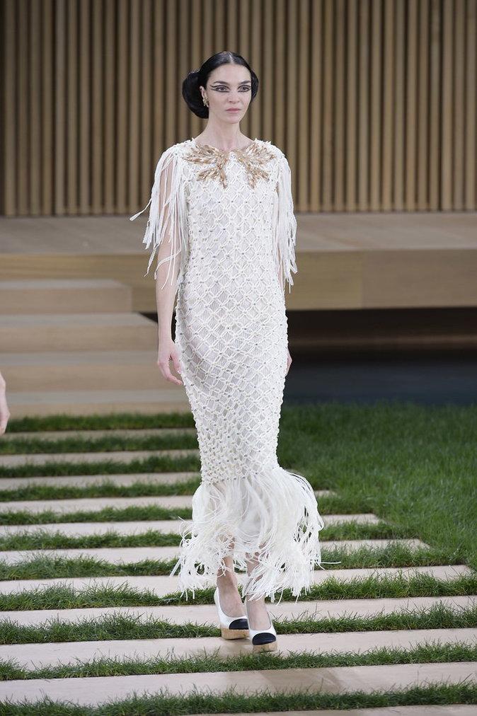 Mariacarla Boscono au défilé Chanel Haute Couture