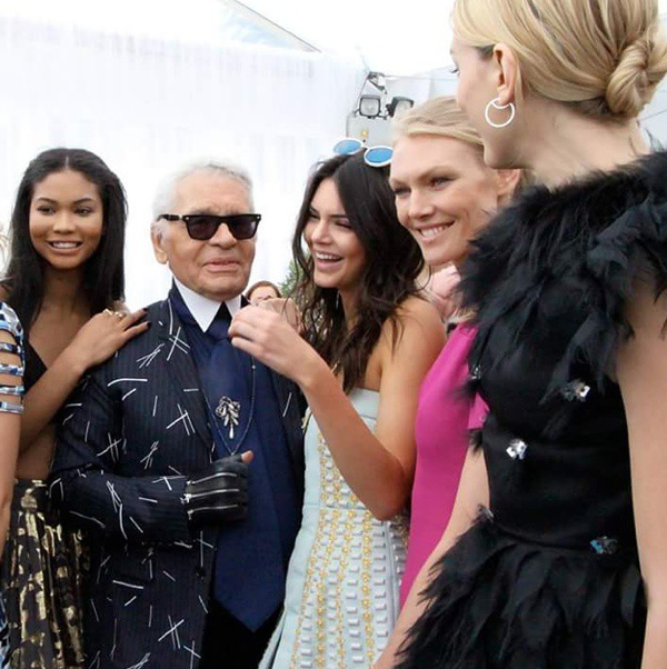 Chanel Iman, Karl Lagerfeld, Kendall Jenner, Lily Donaldson