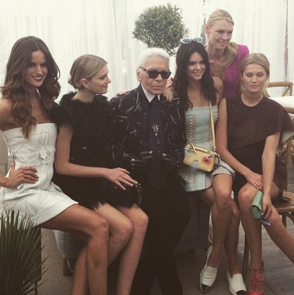 Isabel Goulart, Lily Donaldson, Karl Lagerfeld, Kendall Jenner, Toni Garrn
