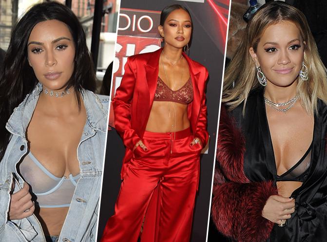 Photos : Kim Kardashian, Karrueche Tran, Rita Ora... Elles craquent toutes pour le soutien-gorge transparent !