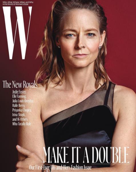 Jodie Foster en couverture de W Magazine