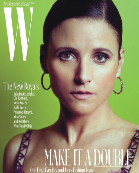 Julia Louis Dreyfus en couverture de W Magazine