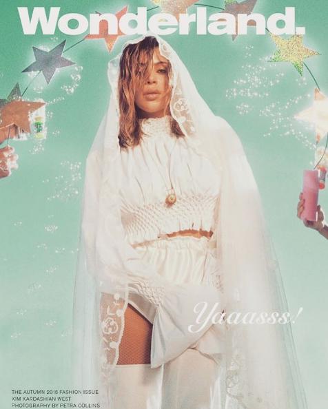 Kim Kardashian en couverture de Wonderland