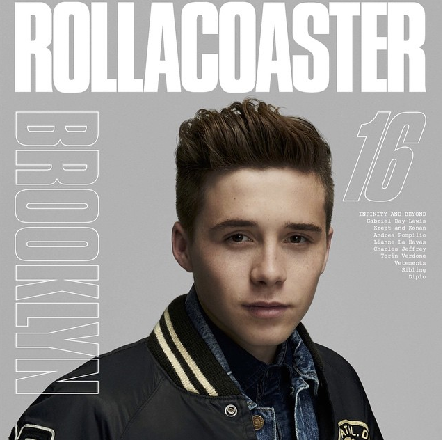 Brooklyn Beckham en une de Rollercoaster magazine
